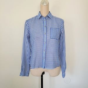 Topshop striped long sleeve shirt 4